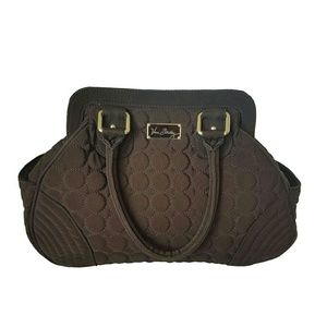 Vera Bradley Brown Quilted Handbag